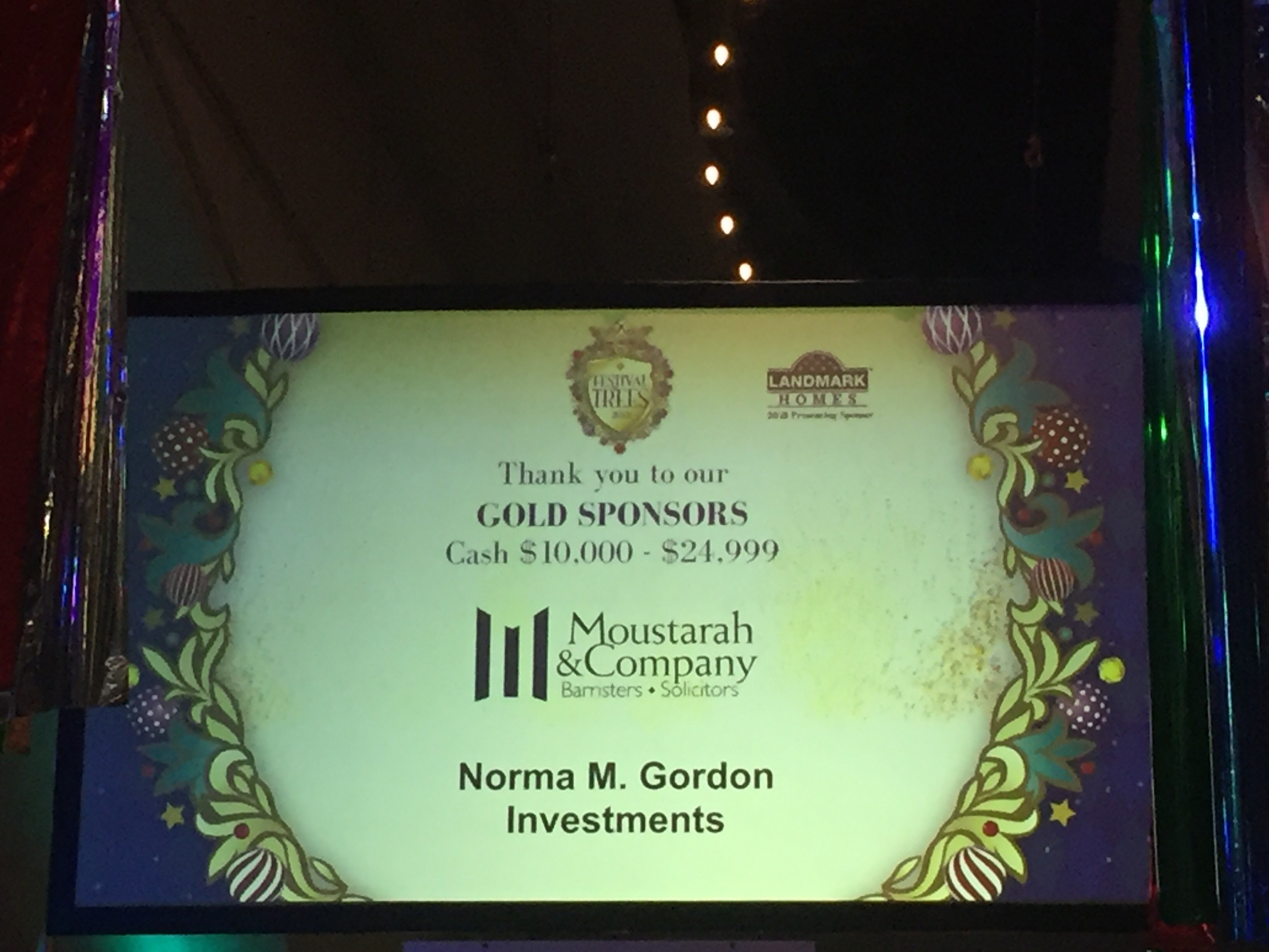 Moustarah and Company personal injury lawyers gold sponsors